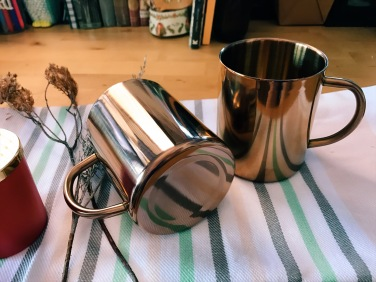 Copper-esque stainless steel mug (S$20)