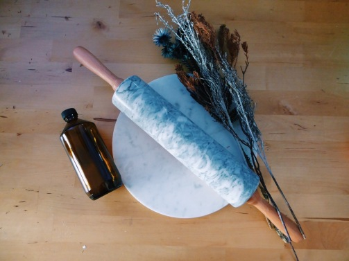Marble rolling pin in steel grey (S$50)