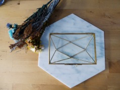 Geometric brass photo frame (S$36)