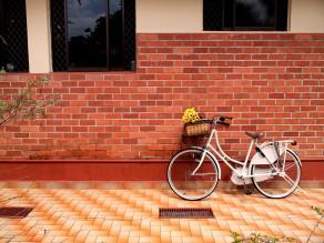 Cream dutch bike